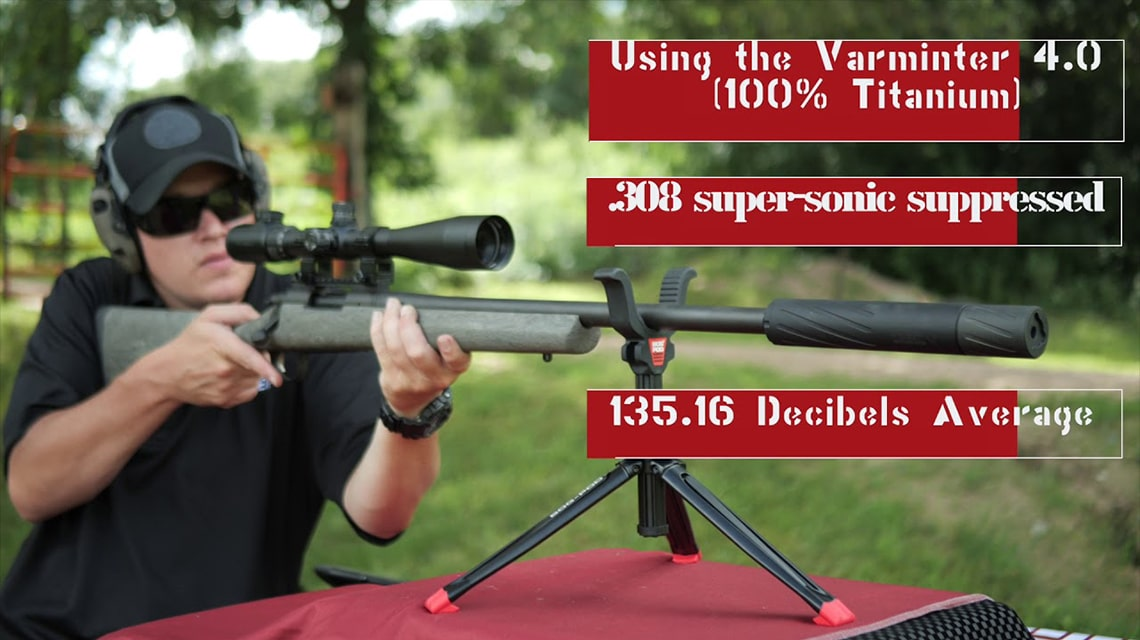 Varminter 4.0 Silencer Testing with Sound Meter 308 Rounds
